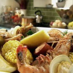 Shrimp Boil with Clams and Lemons