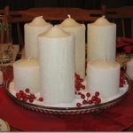 Frosty Salted Candle Centerpiece