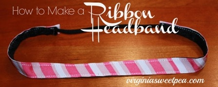 How to Make a Ribbon Headband