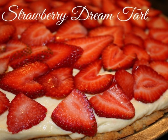 Strawberry Dream Tart by virginiasweetpea.com