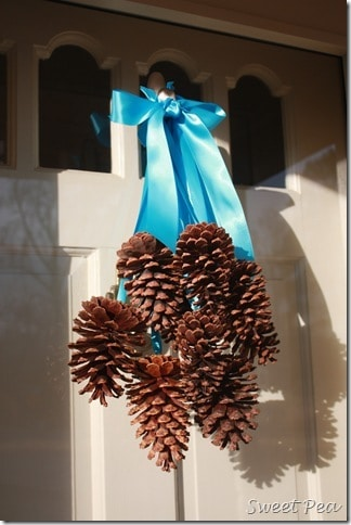 Pine Cone Door Decoration Sweet Pea