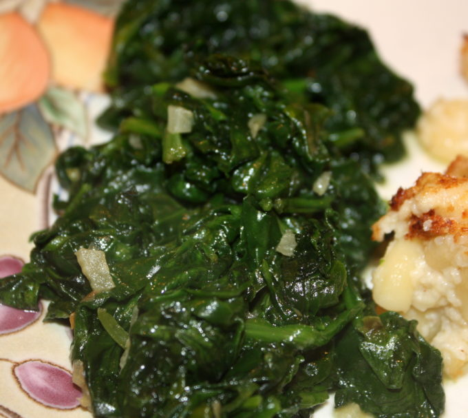 Sautéed Fresh Spinach - This is an easy to make side dish that is chocked full of nutrients.