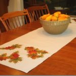 Easy Drop Cloth Fall Table Runner