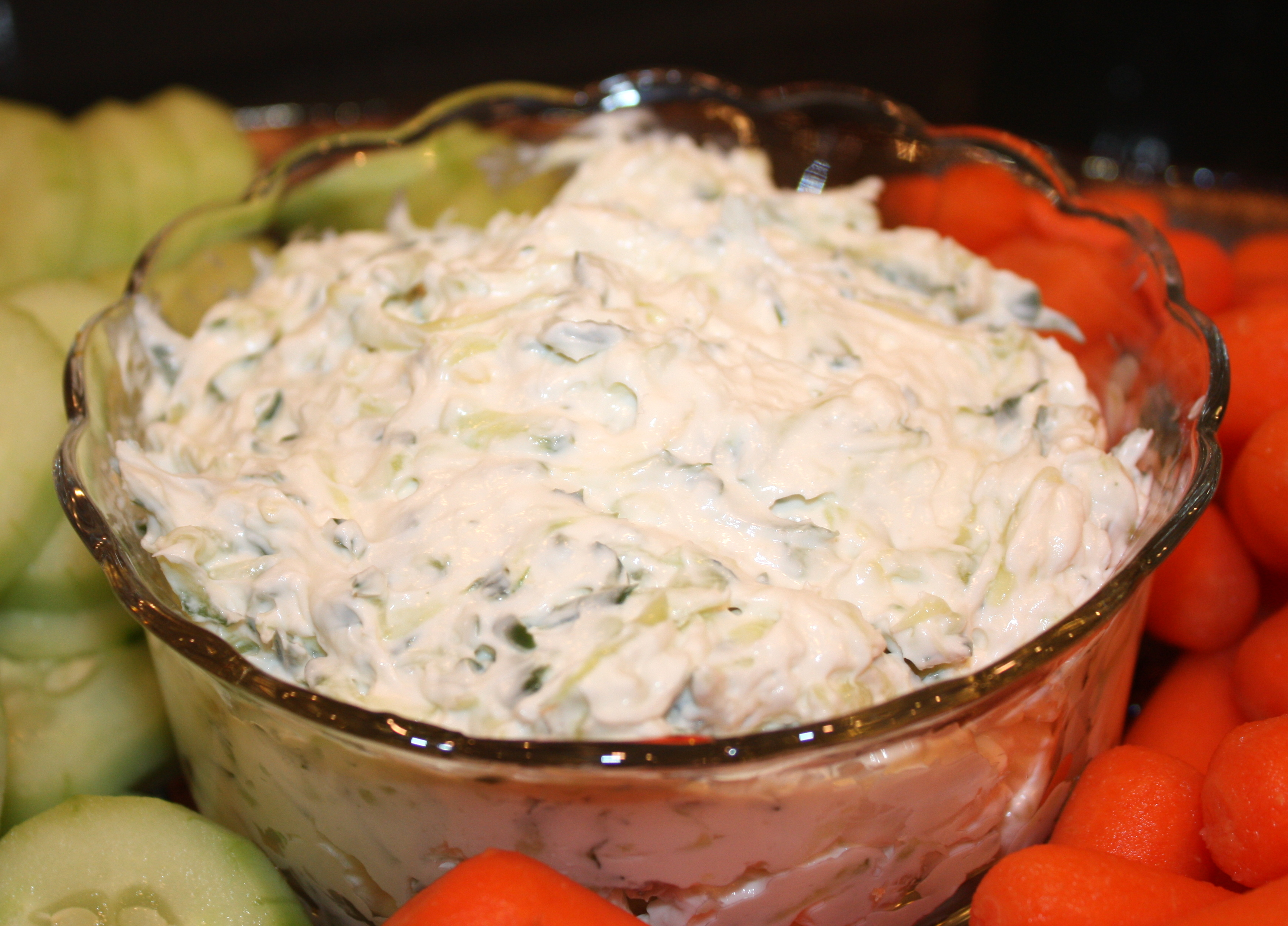 Cucumber dip - A wonderful dip to serve with vegetables. #dip #diprecipe #cucumberdip #cucumber