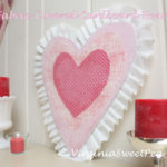 Fabric Covered Cardboard Heart for Valentine's Day