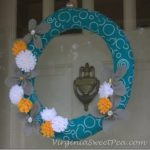 Felt Flower Wreath for Summer