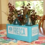 Vintage Fresca Bottle Holder Arrangement