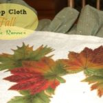 Fall Table Runner and Osage Oranges