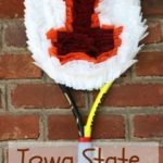 Iowa State Tennis Racket Wreath