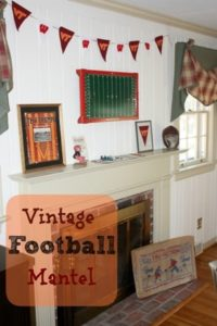 Vintage Inspired Football Theme Mantel