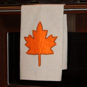 Fall Drop Cloth Tea Towel