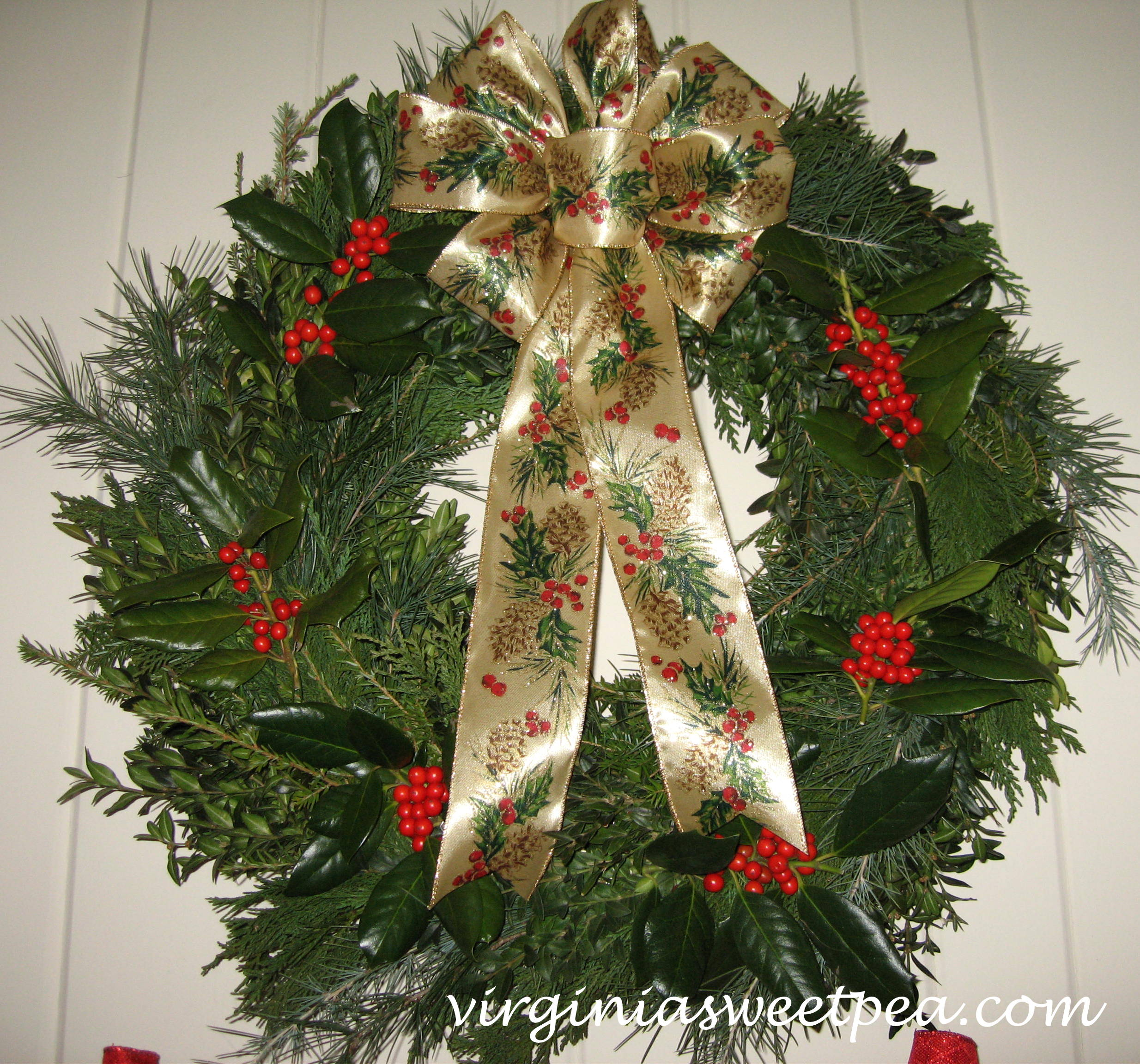 Six christmas wreaths to inspire sweet pea Christmas wreath decorations