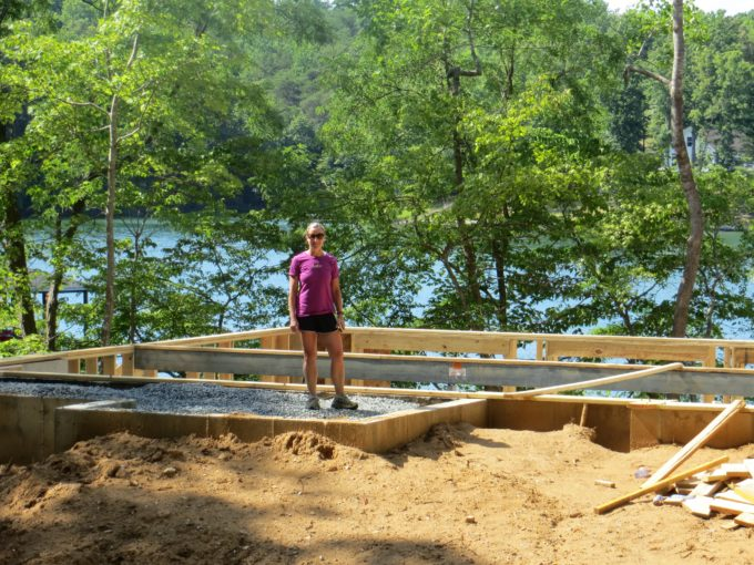 Standing on the front porch of our future SML home.