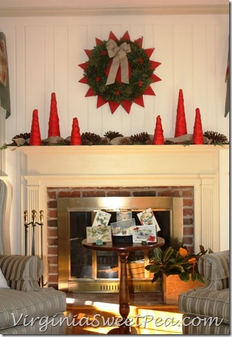 2012 Christmas Mantel - Front View2