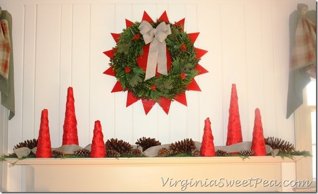 2012 Christmas Mantel - Front View