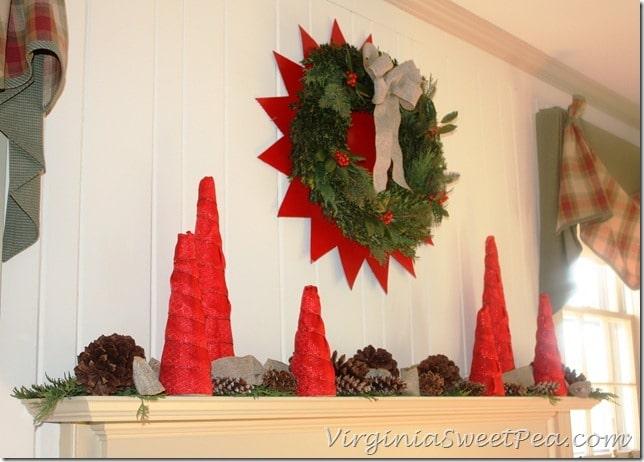 2012 Christmas Mantel - Side View