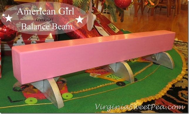 American Girl Knock-Off Balance Beam