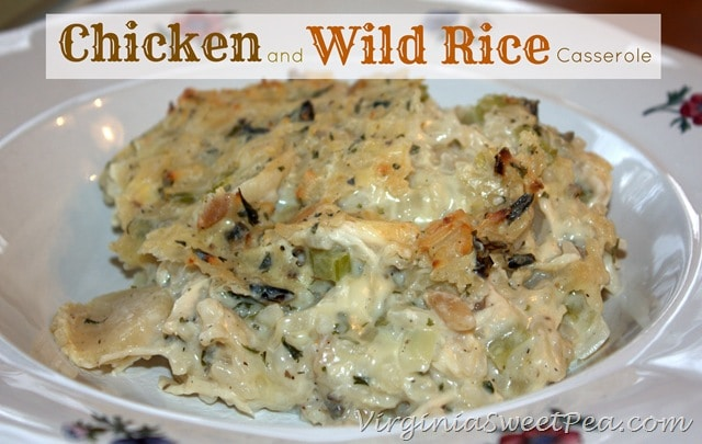 Easy Comfort Food :: Chicken and Wild Rice Casserole - Sweet Pea