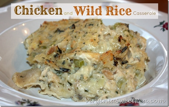 Chicken and Wild Rice Casserole  #chicken #chickencasserole