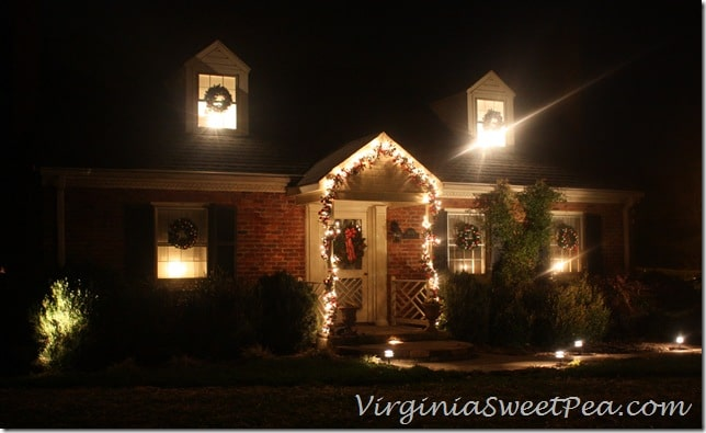 Christmas Outside at Night2