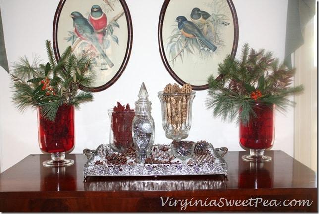 Christmas Vignette for the Living Room