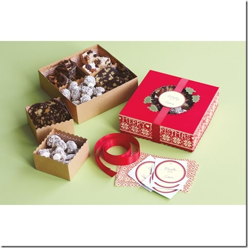 Cottage Christmas Compartment Treat Boxes