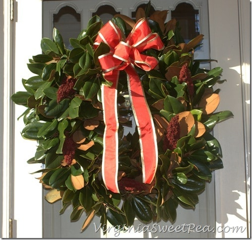 Magnolia and Sumac Wreath by Sweet Pea