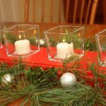 Christmas DIY Recessed Glass Votive Centerpiece
