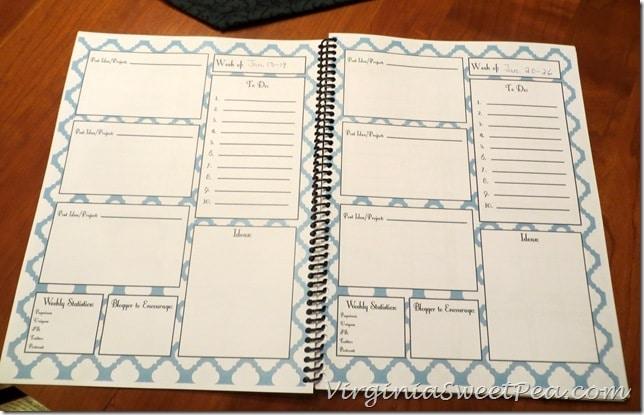 Blog Planner - Weeks