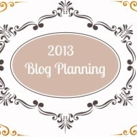 A Blog Planner for 2013