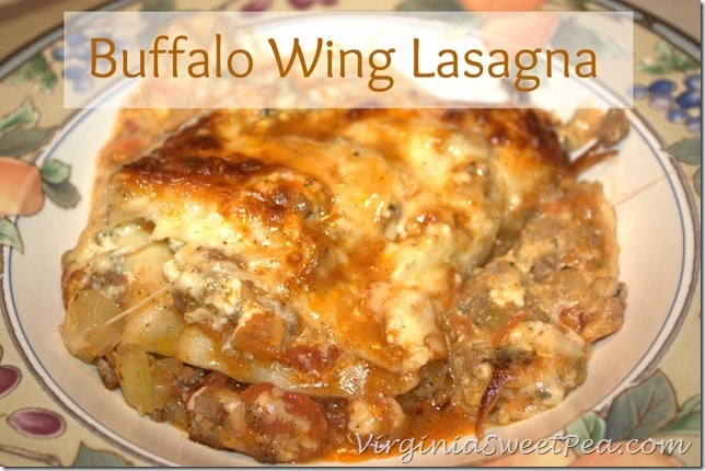 Buffalo Wing Style Ground Beef Lasagna by Virginia Sweet Pea