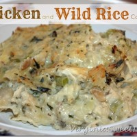 Easy Comfort Food :: Chicken and Wild Rice Casserole