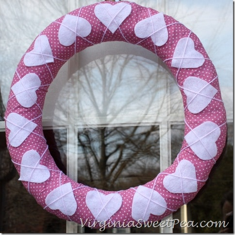 Cross Your Heart Pink Wreath by Virginia Sweet Pea