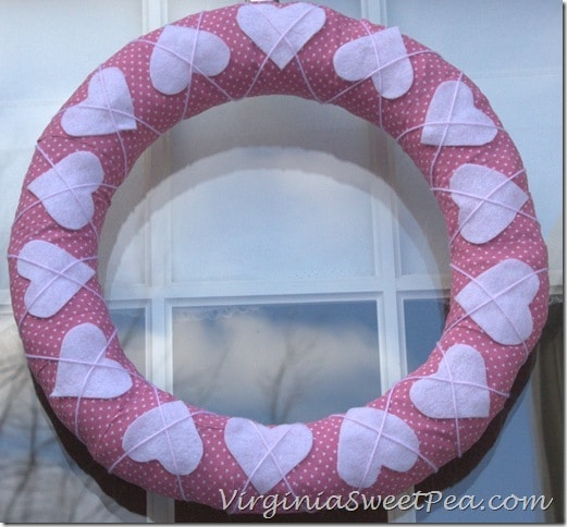 Cross Your Heart Pink Wreath