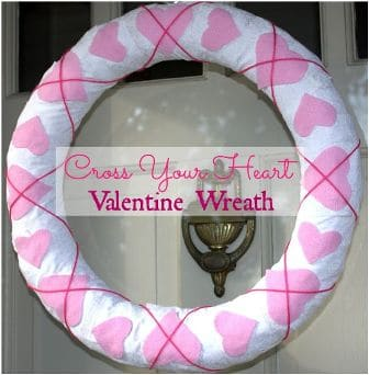 Cross Your Heart Valentine's Day Wreath