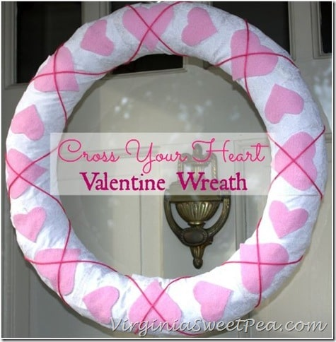 Cross Your Heart Valentine Wreath by virginiasweetpea