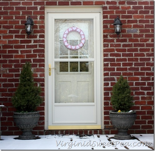 Deck Door with Heart Wreath