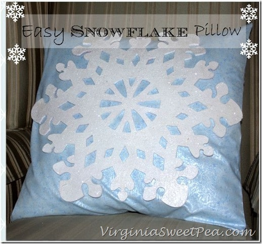 Easy Snowflake Pillows by Sweet Pea