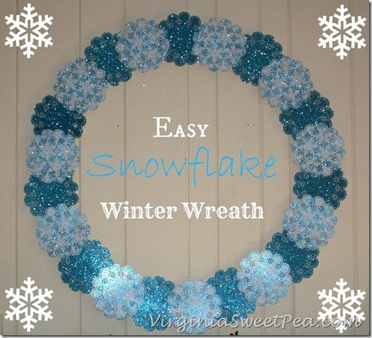 Easy Snowflake Winter Wreath by Sweet Pea