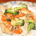 Orange Ginger Chicken and Veggie Stir Fry