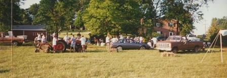 Hashing at the Ahalt Family Farm in 1997
