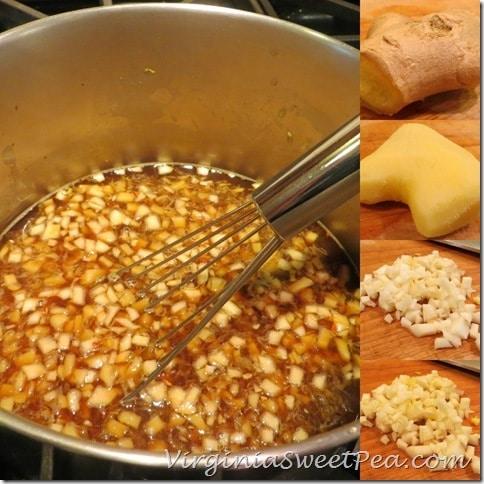 Orange Ginger Sauce Collage