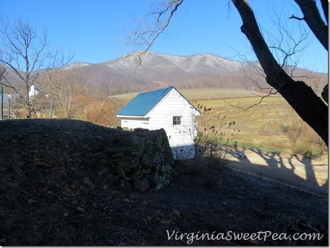 Pharsalia Outhouse and Mountains