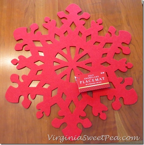 Red Snowflake Placemat