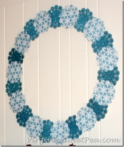 Shimmering Snowflake Winter Wreath2
