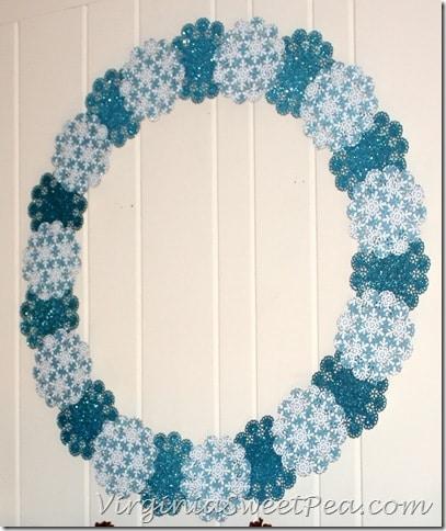 Shimmering Snowflake Winter Wreath2