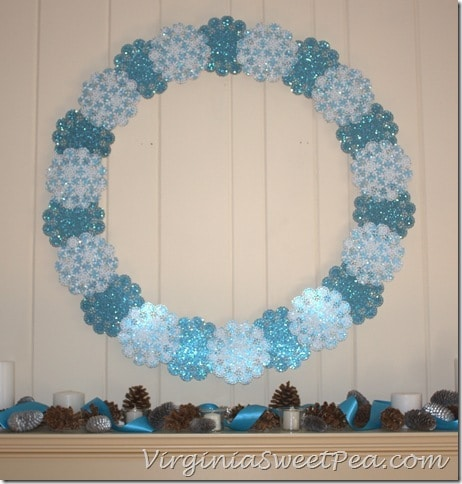 Shimmering Snowflake Winter Wreath3