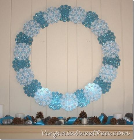 Shimmering Snowflake Winter Wreath3