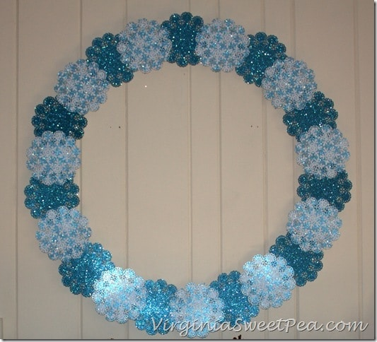Shimmering Snowflake Winter Wreath