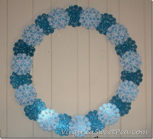 Shimmering Snowflake Winter Wreath